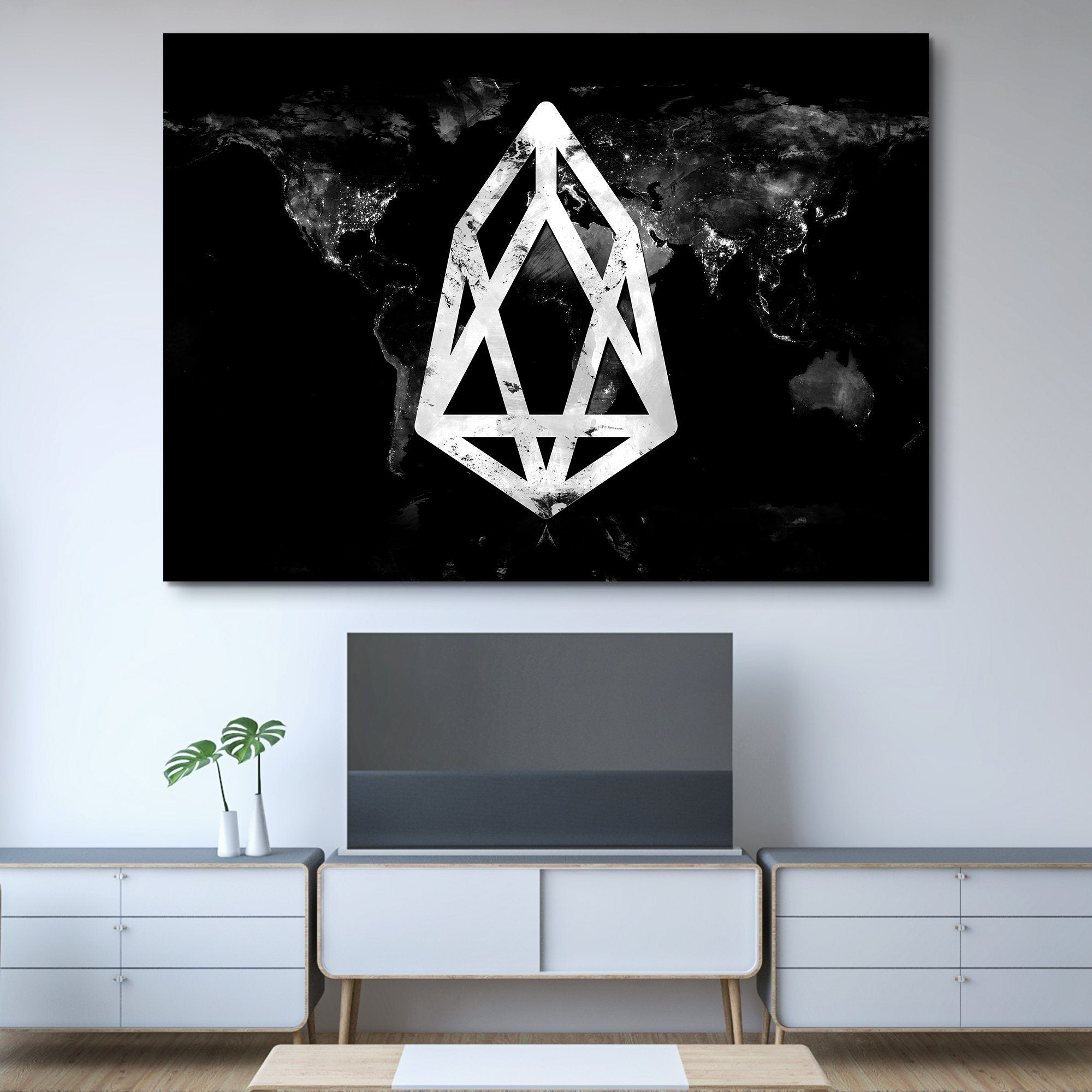 EOS Black Marble Series wall art