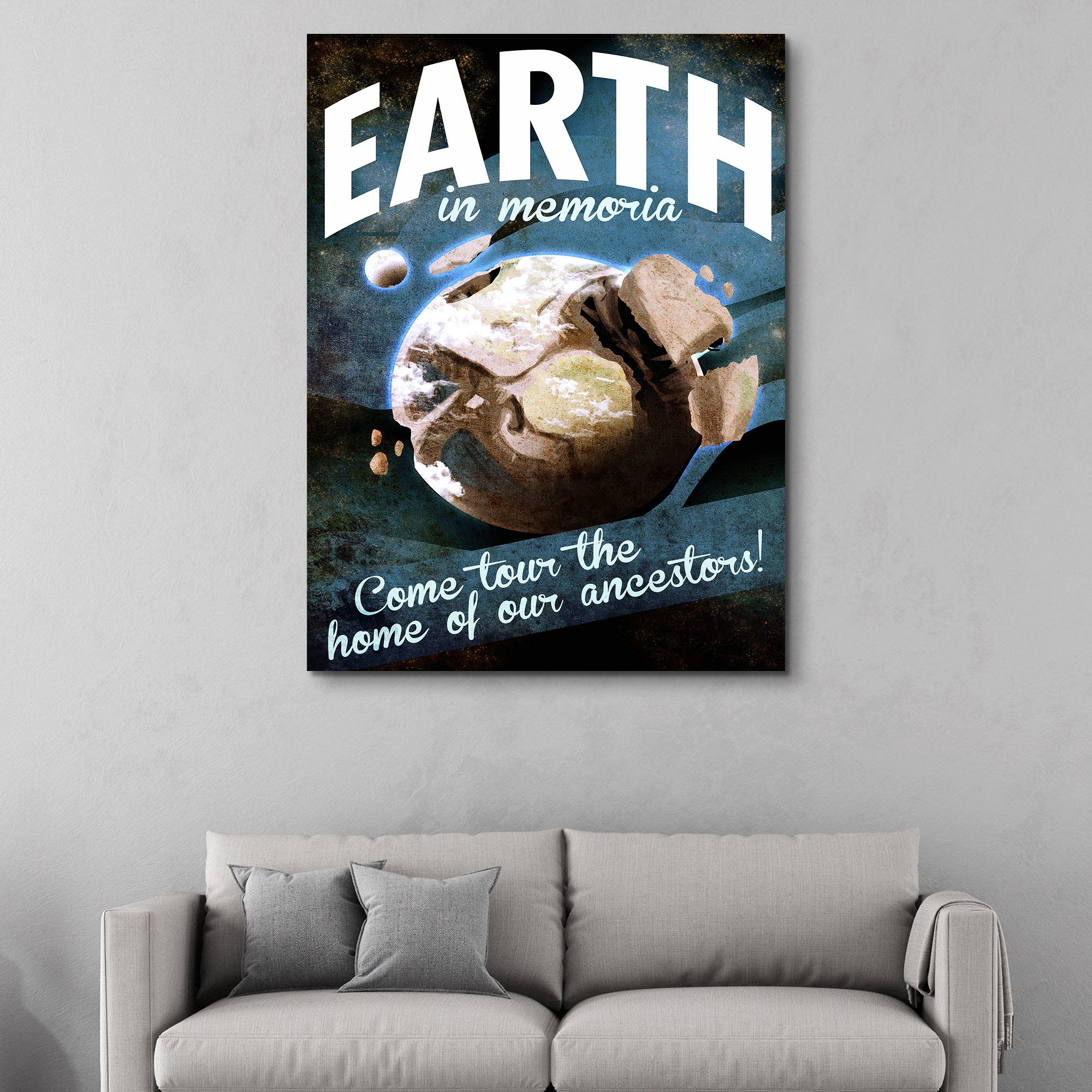 Earth - Futuristic Planet Series wall art