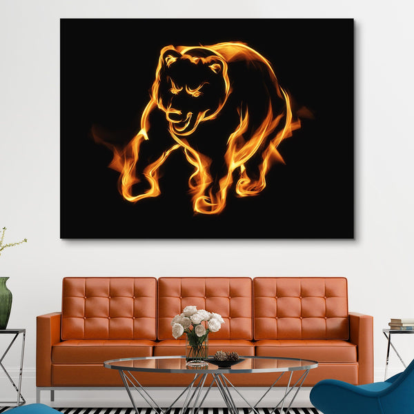 Flaming Bear wall art