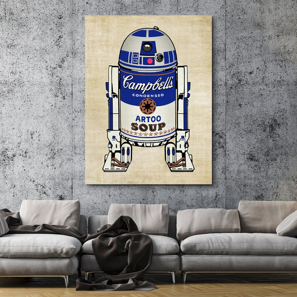 Campbell's R2D2 Droid Soup wall art