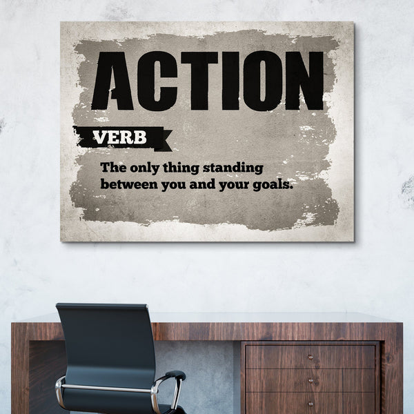 Action wall art