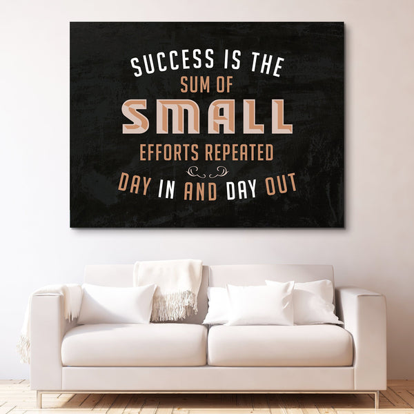 The Sum of Small Efforts wall art