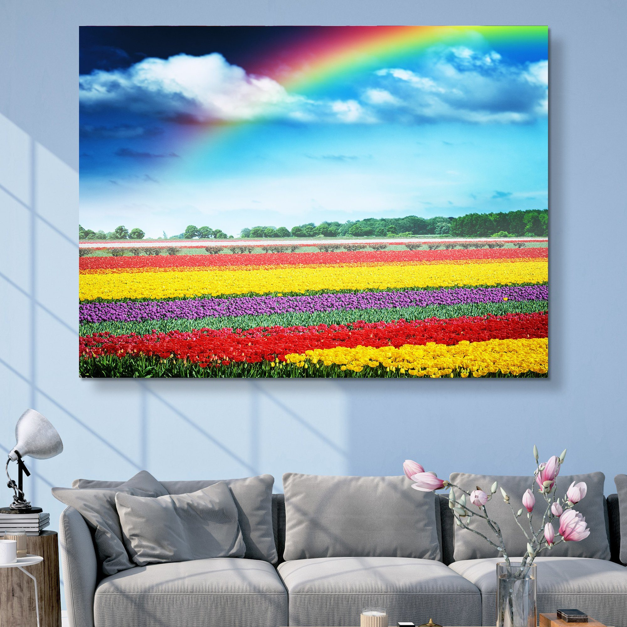 Rainbow Over Tulips wall art