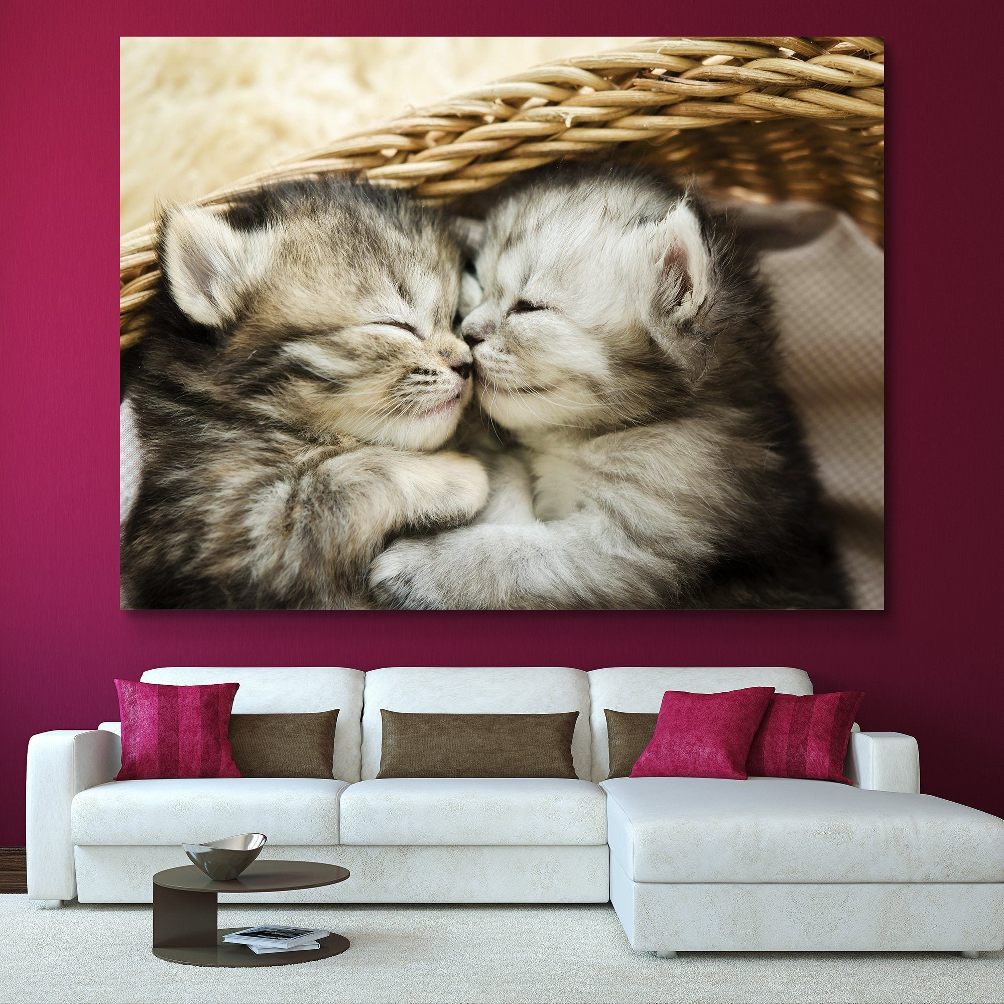 Kitten Hugs wall art