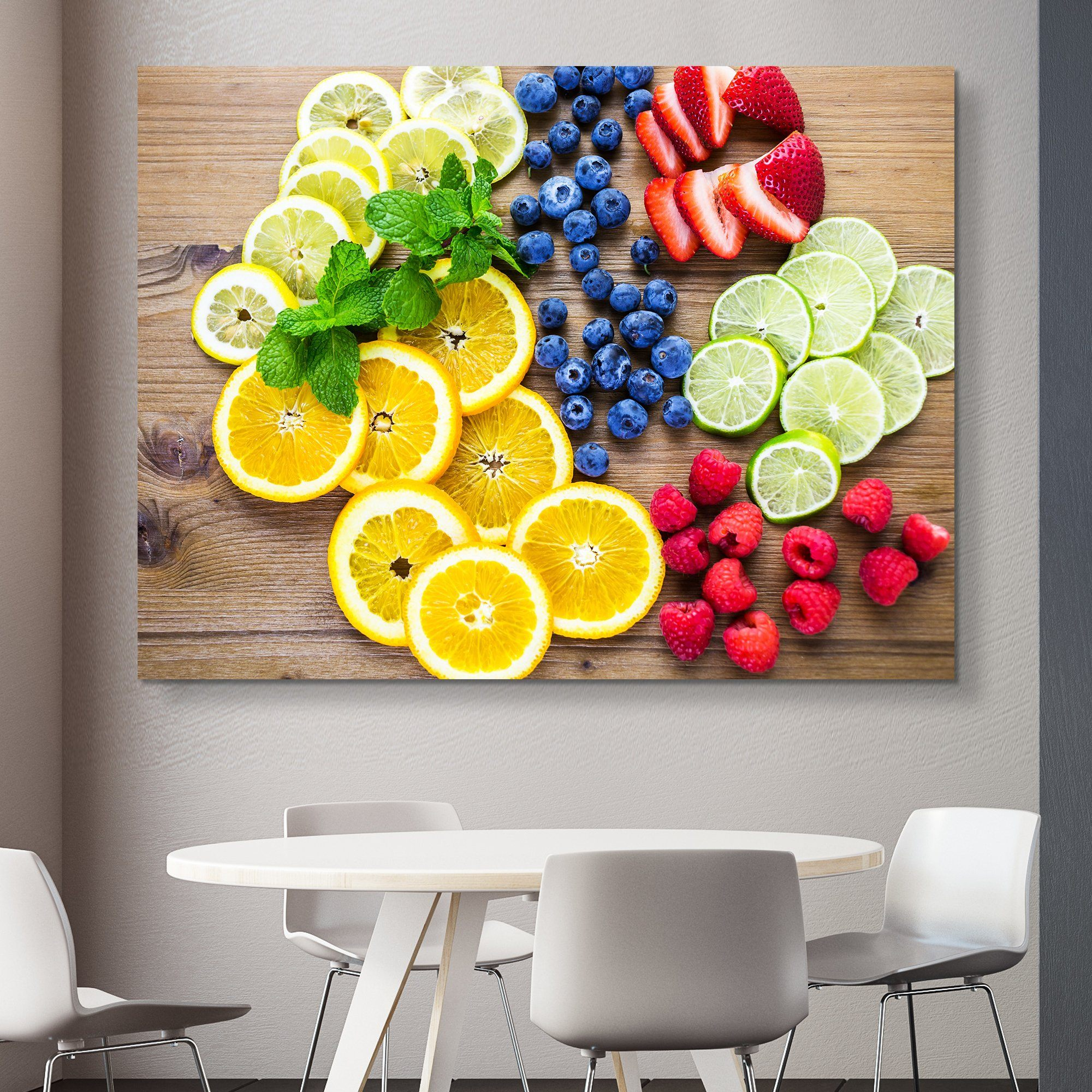 Sliced Fresh Fruits wall art