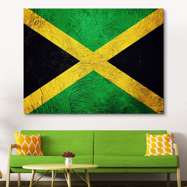 Jamaican Flag wall art