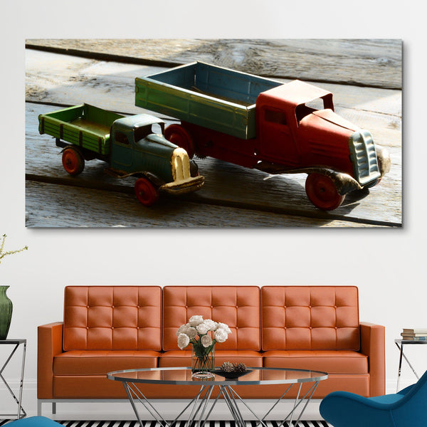 Miniature truck wall art