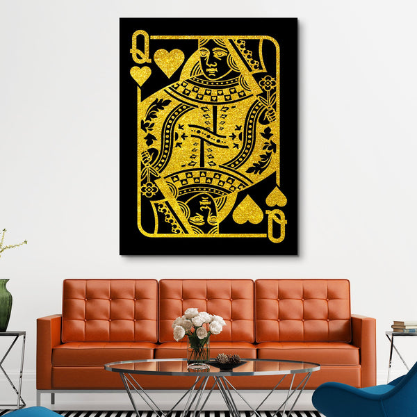 The Queen - Black/Gold Edition wall art