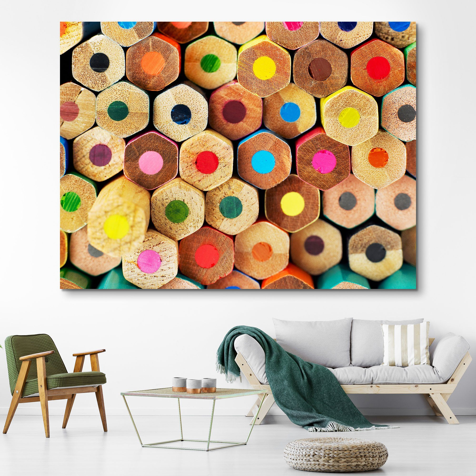 Colored Pencils wall art