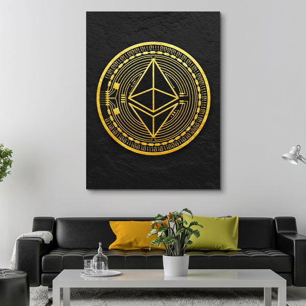 Ethereum Coin wall art