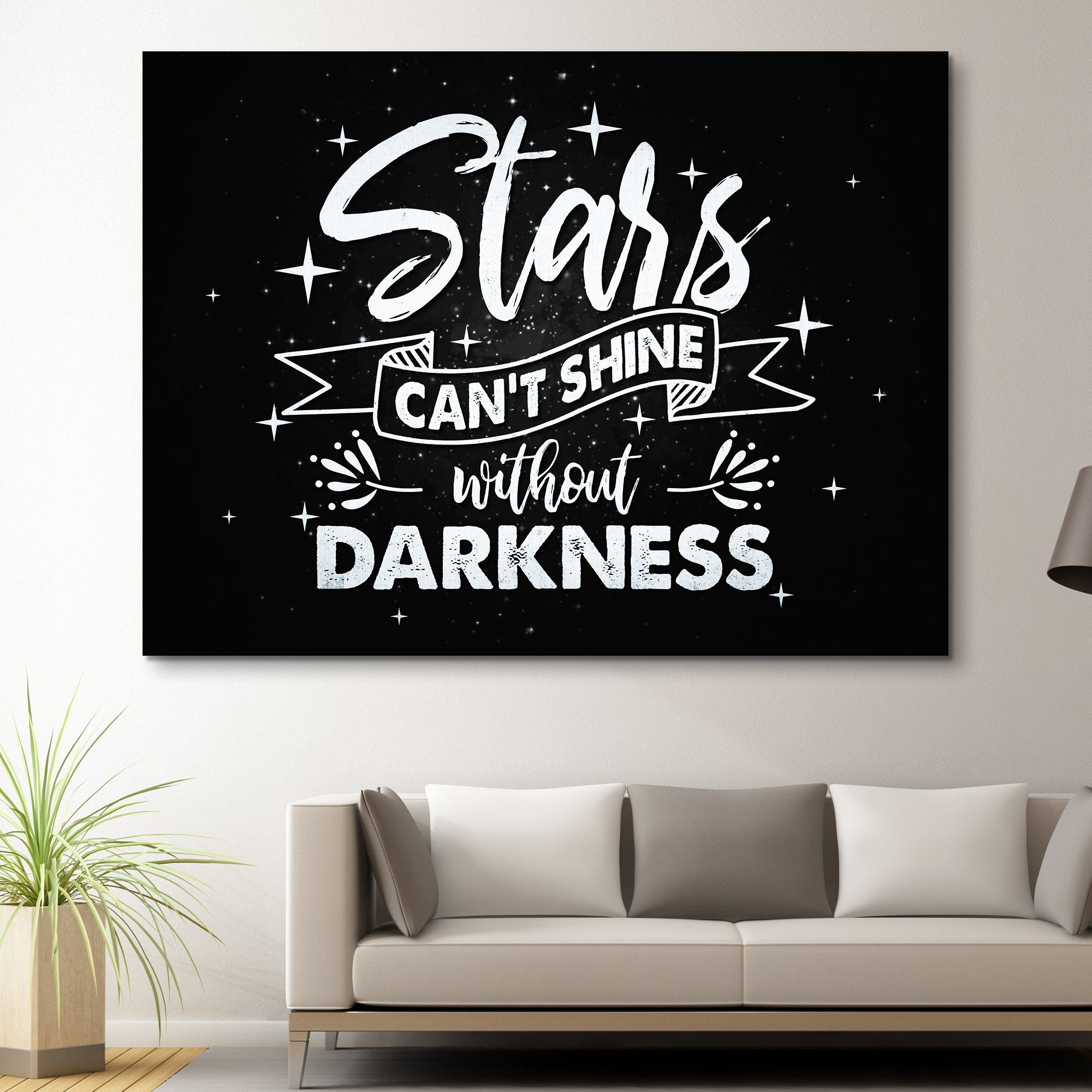 Stars Can't Shine Without Darkness wall art