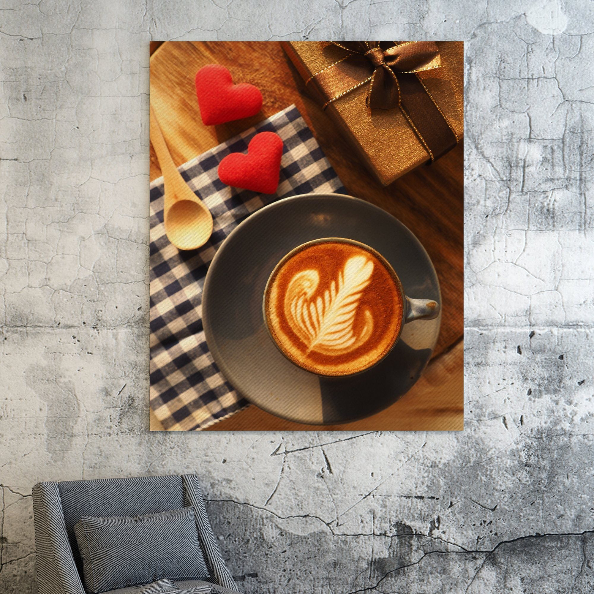 Hearts and Coffee wall art