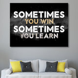 Winning and Learning wall art