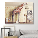 Giraffe Breaks the Ceiling wall art