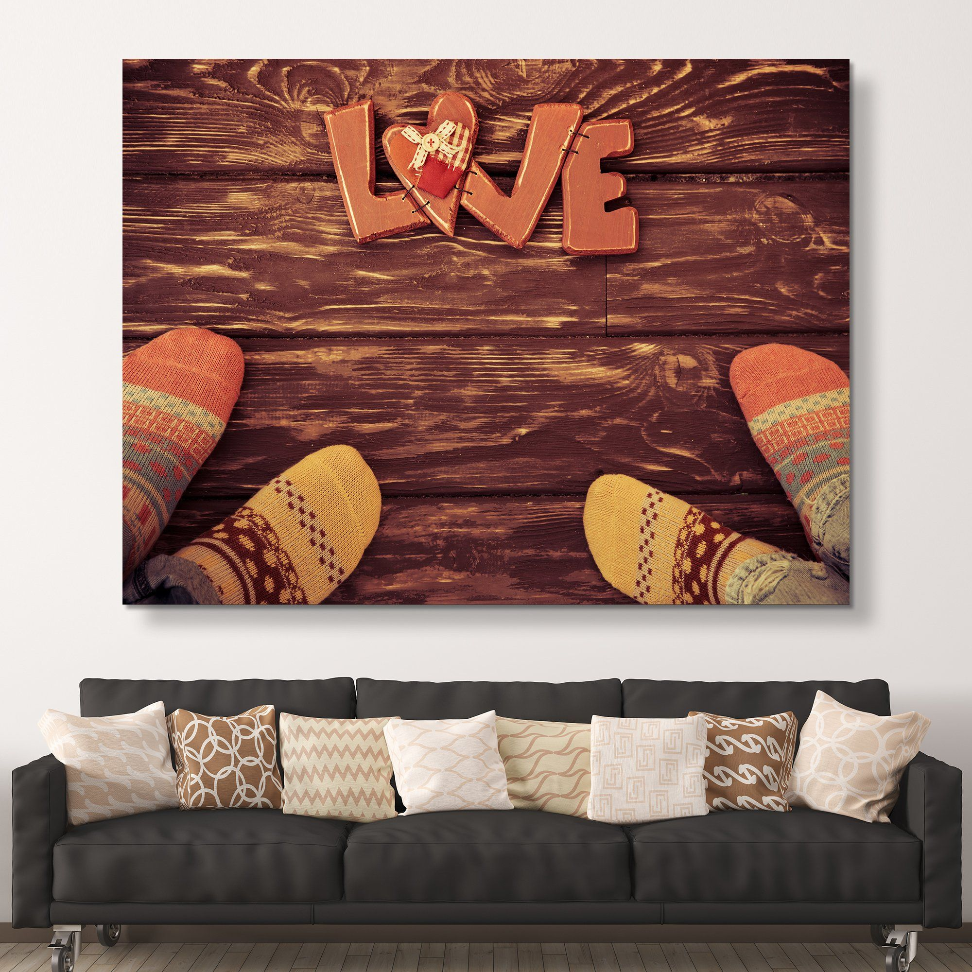Socks for Love wall art