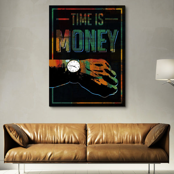 Time Is Money wall art