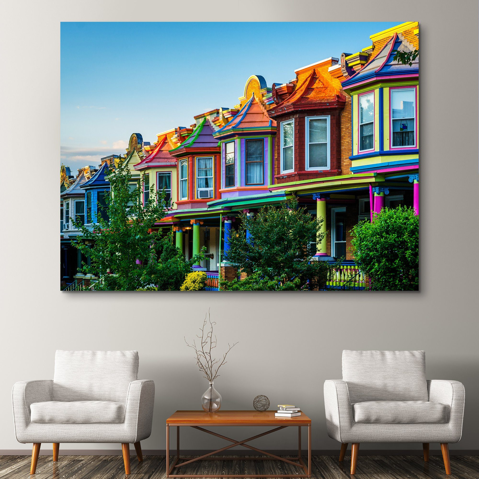 Colorful Houses wall art