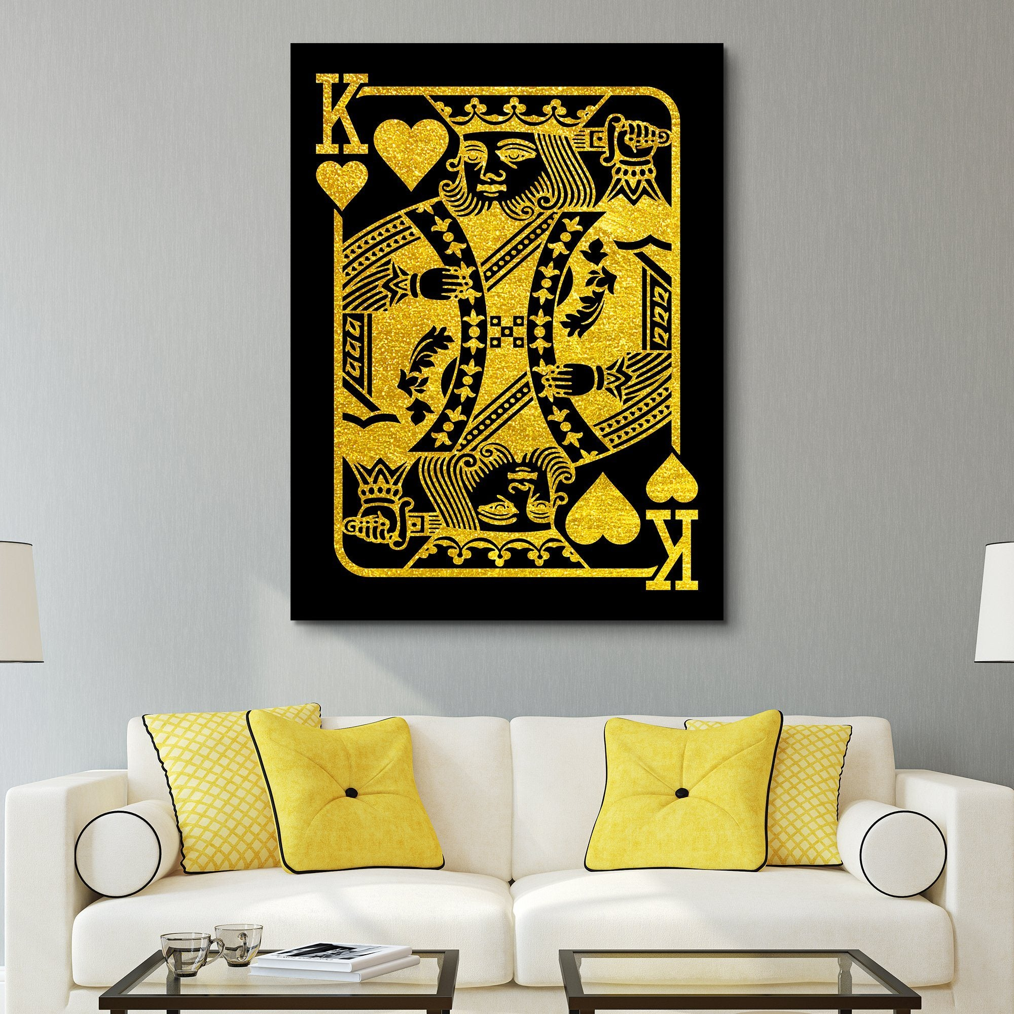 The King - Black/Gold Edition wall art