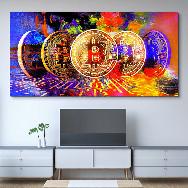 Bitcoin Power wall art