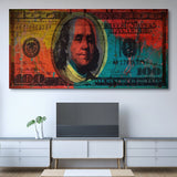 Color Pop $100 Benjamin wall art