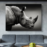 Rhinoceros Monochrome wall art