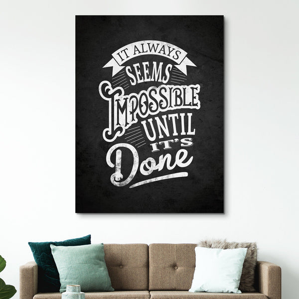 Nothing Is Impossible wall art