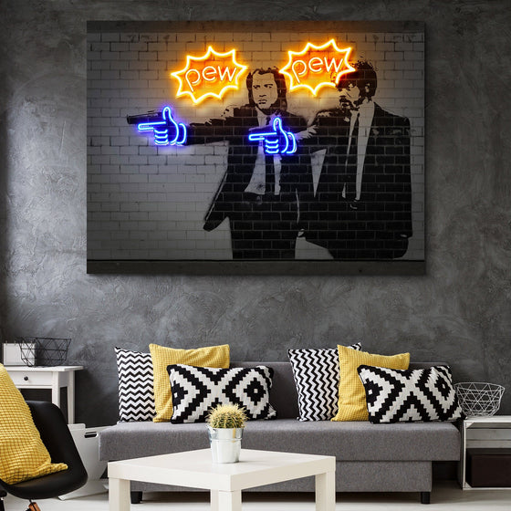 Pew Pew wall art