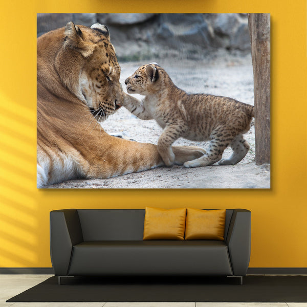 Lion and Cub wall art