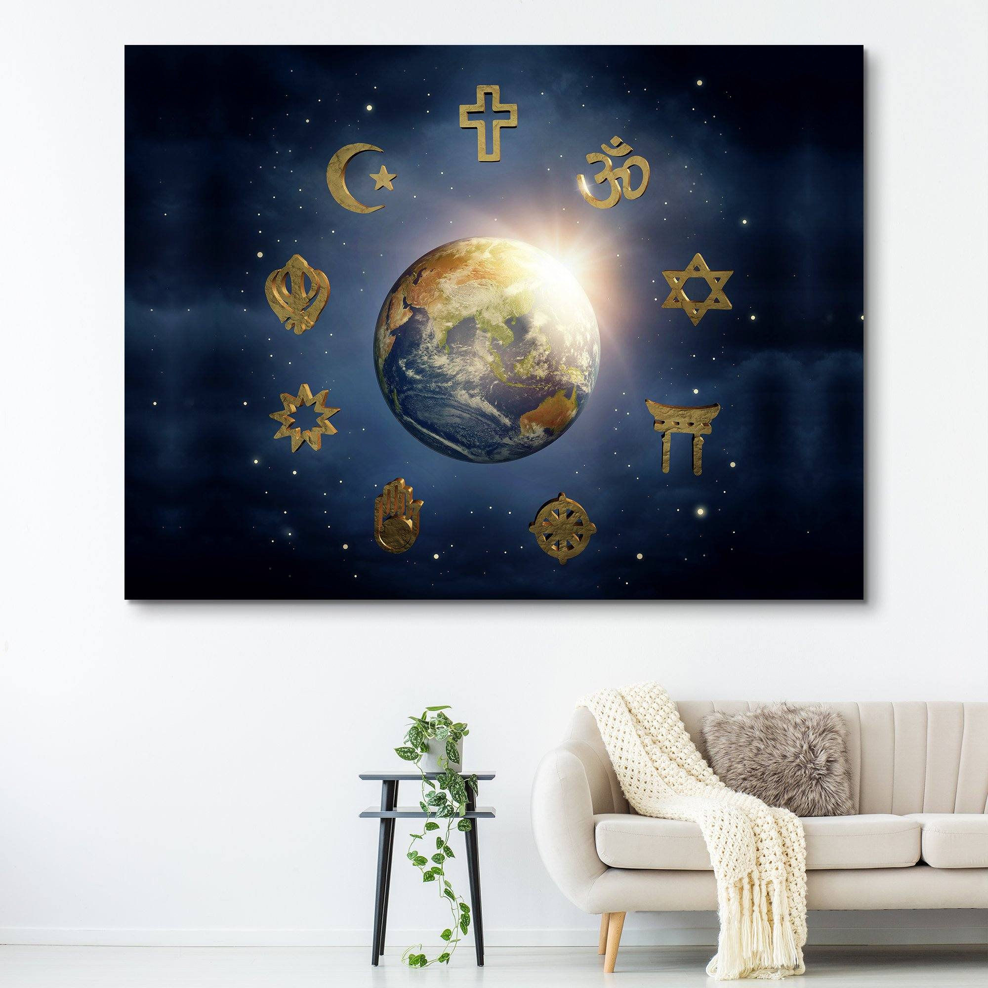Religious World wall art