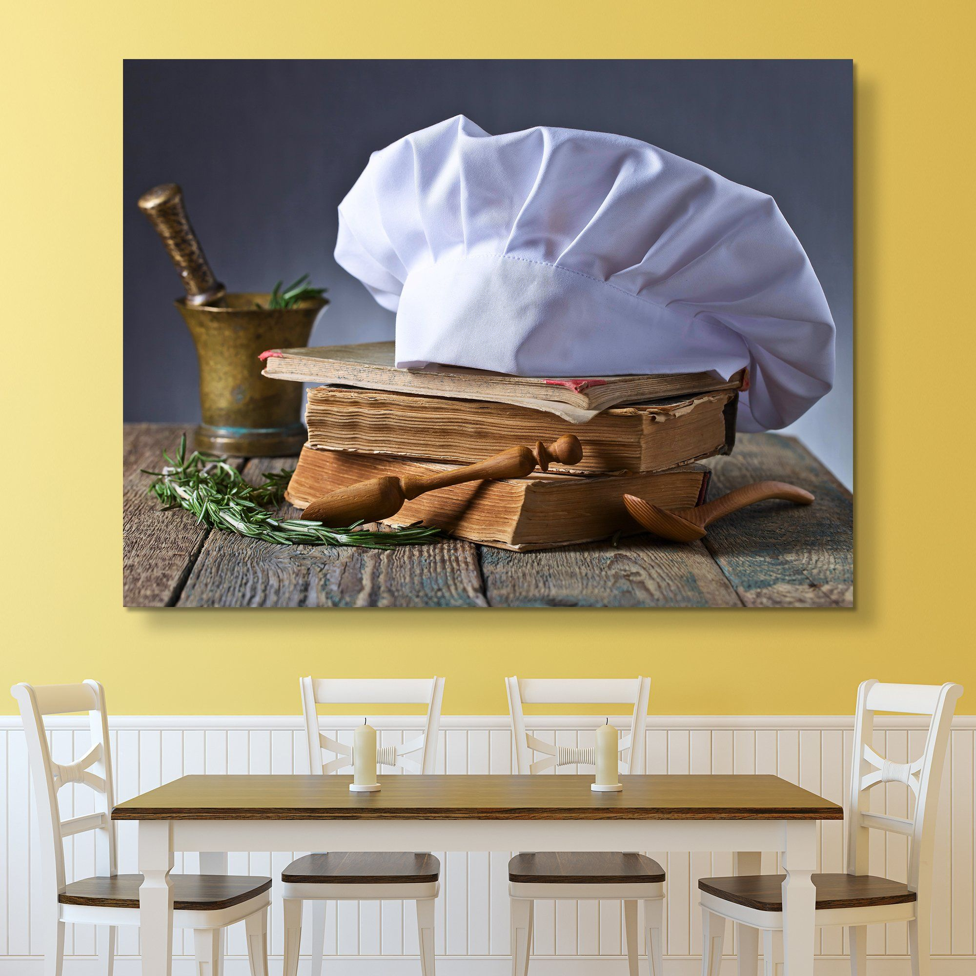recipe and Chef's Hat wall art