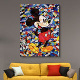 The Camo Mickey Mouse wall art