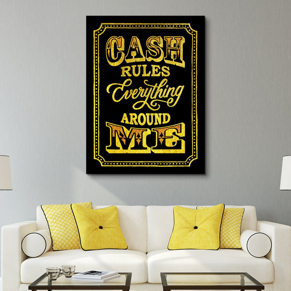 Cash Rules wall art