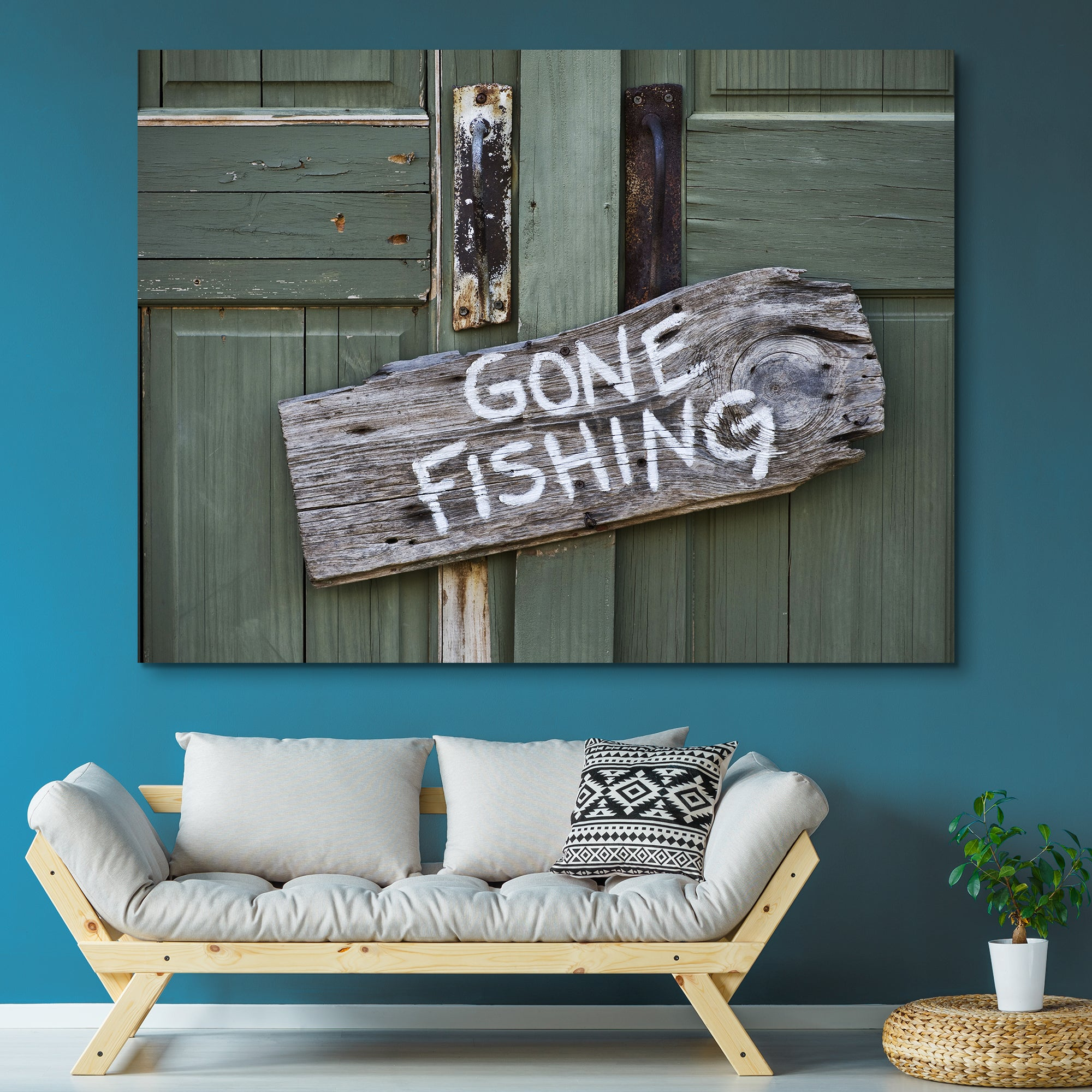 Gone Fishing wall art