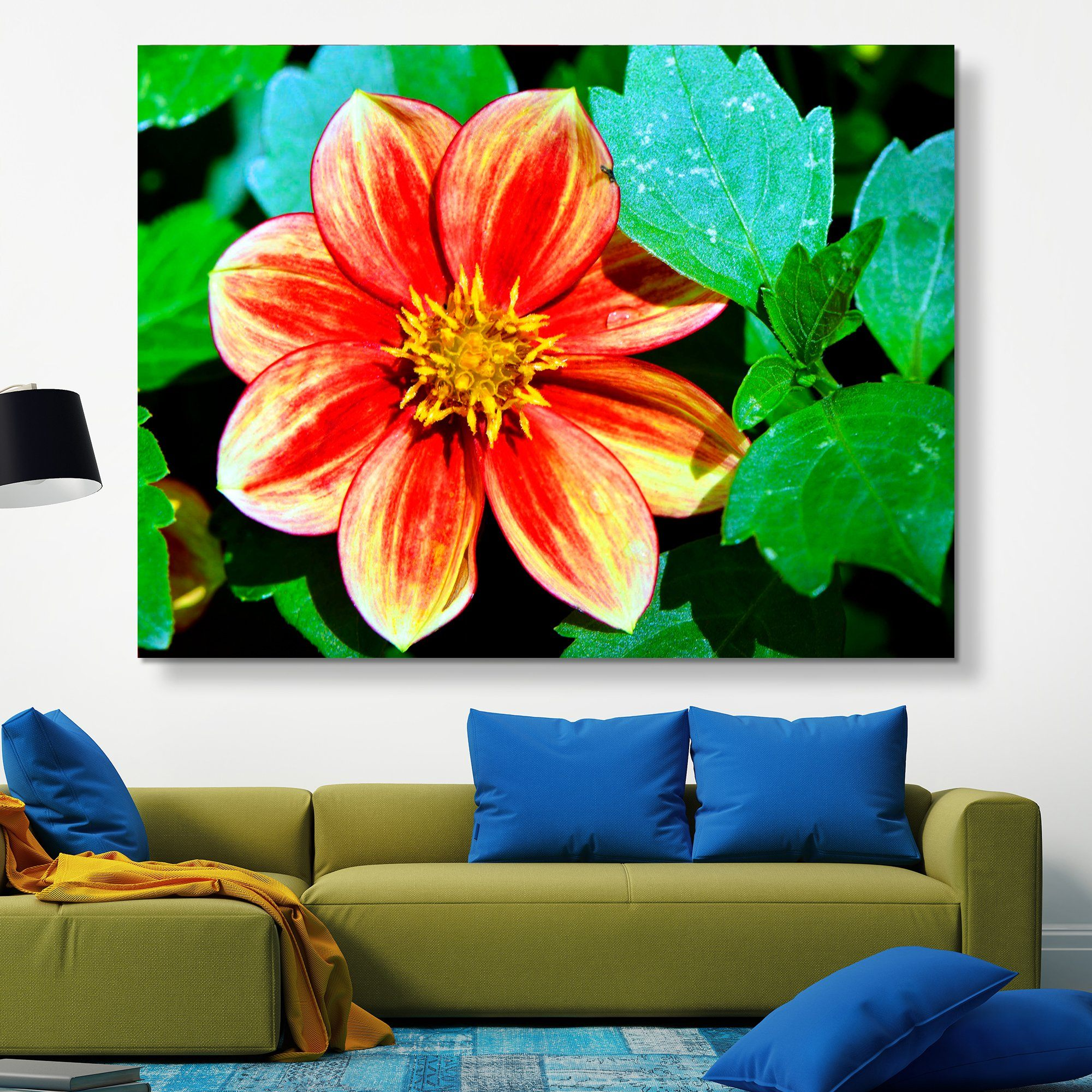 Dahlia Bishop of Llandaff flower wall art