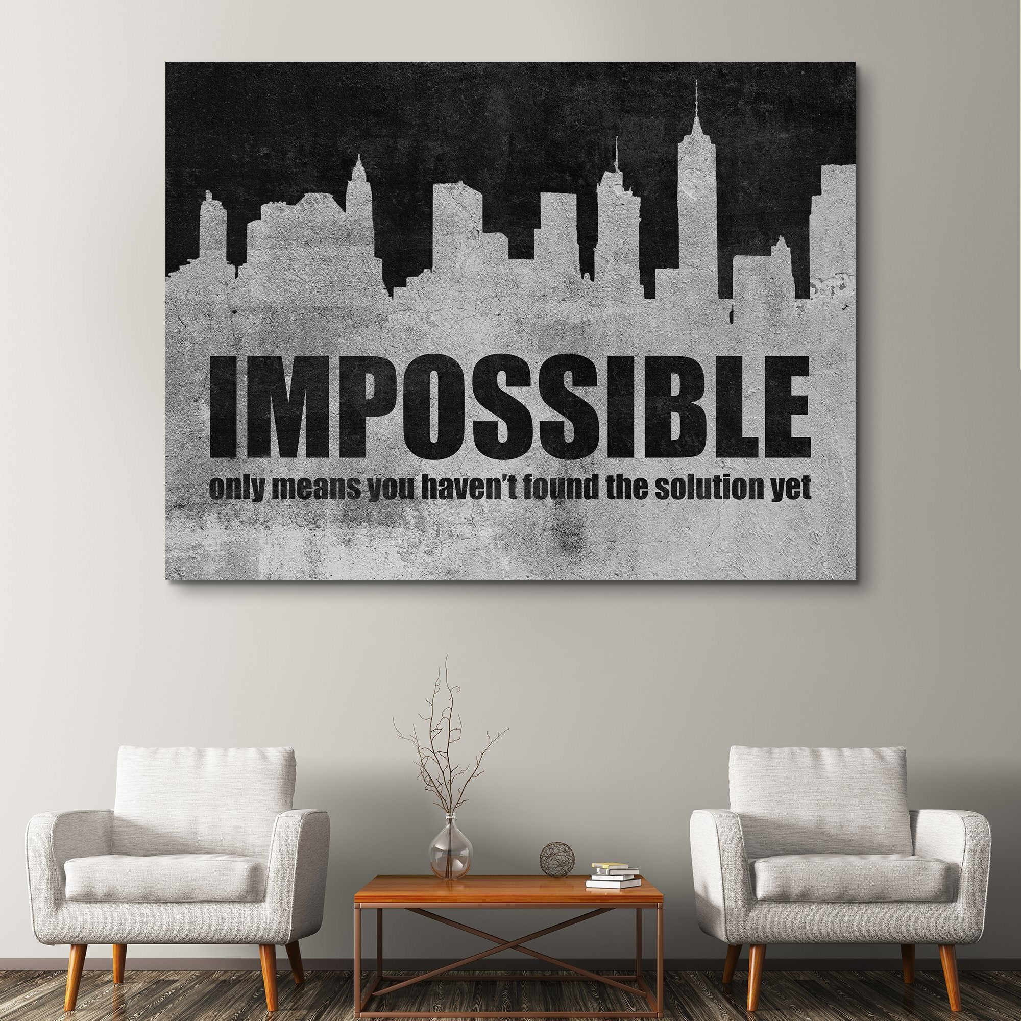 Find The Solution motivational wall art