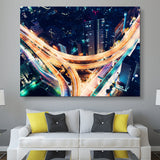 Road Night Lights wall art