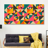 Vibrant Spectacle abstract wall art