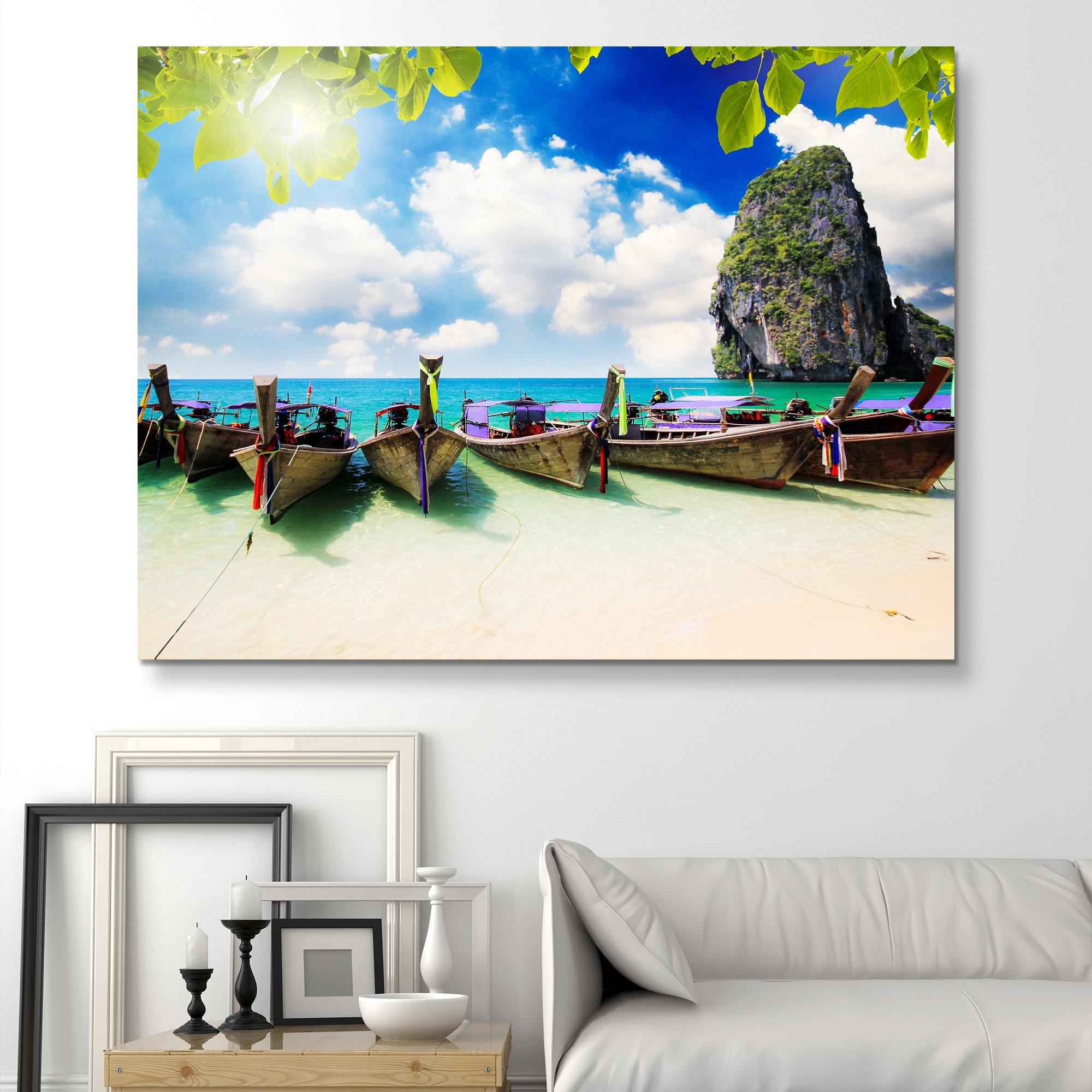 Long Tail Boats wall art
