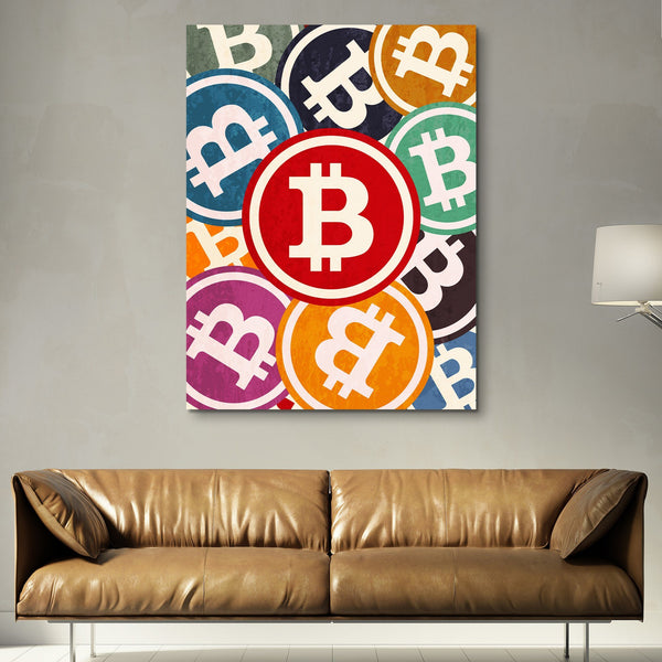 Bitcoin Pop wall art