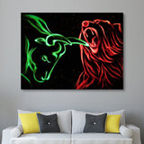 Bull vs Bear wall art