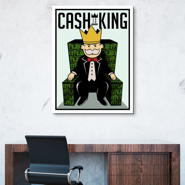 Cash Is King wall art