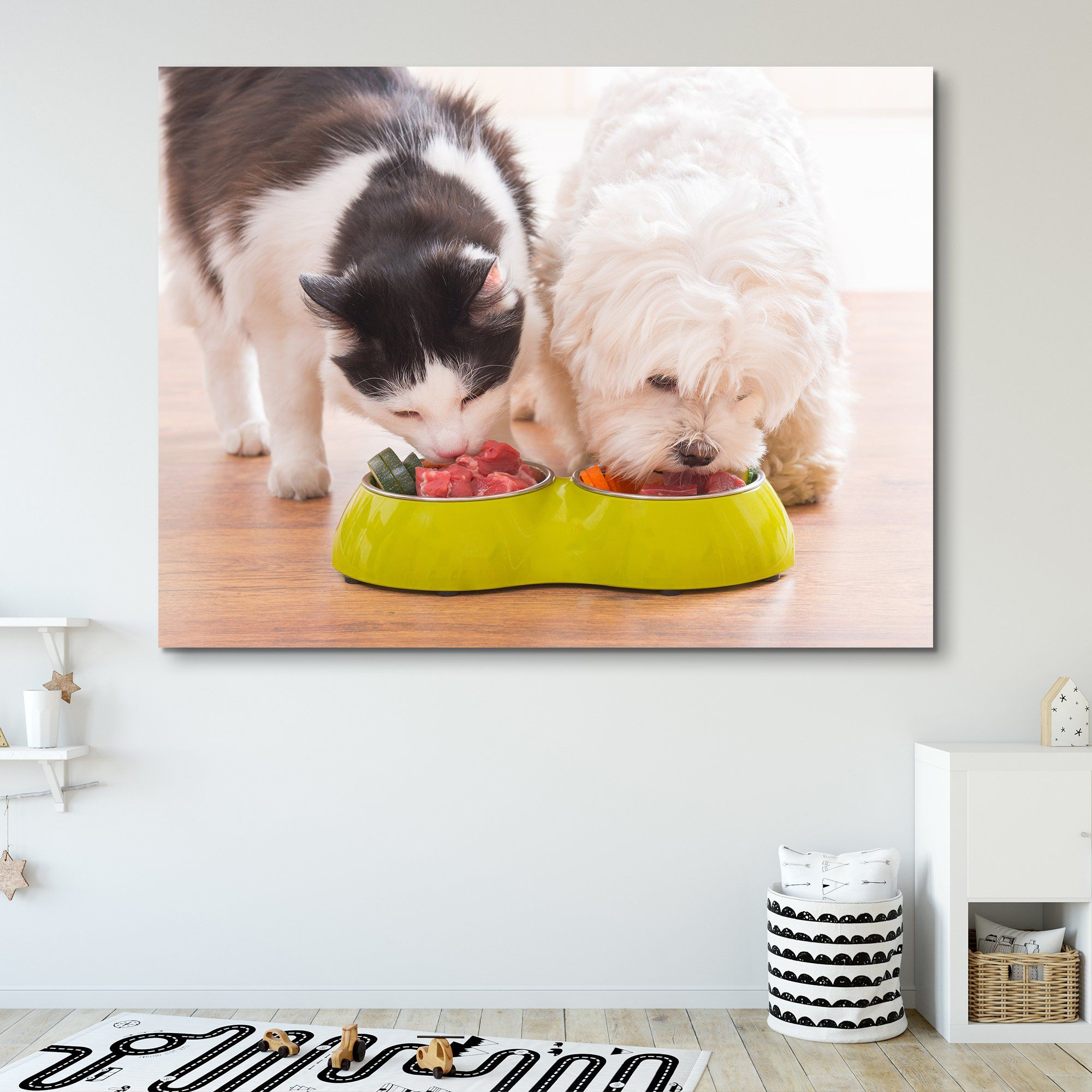 dog and cat wall art