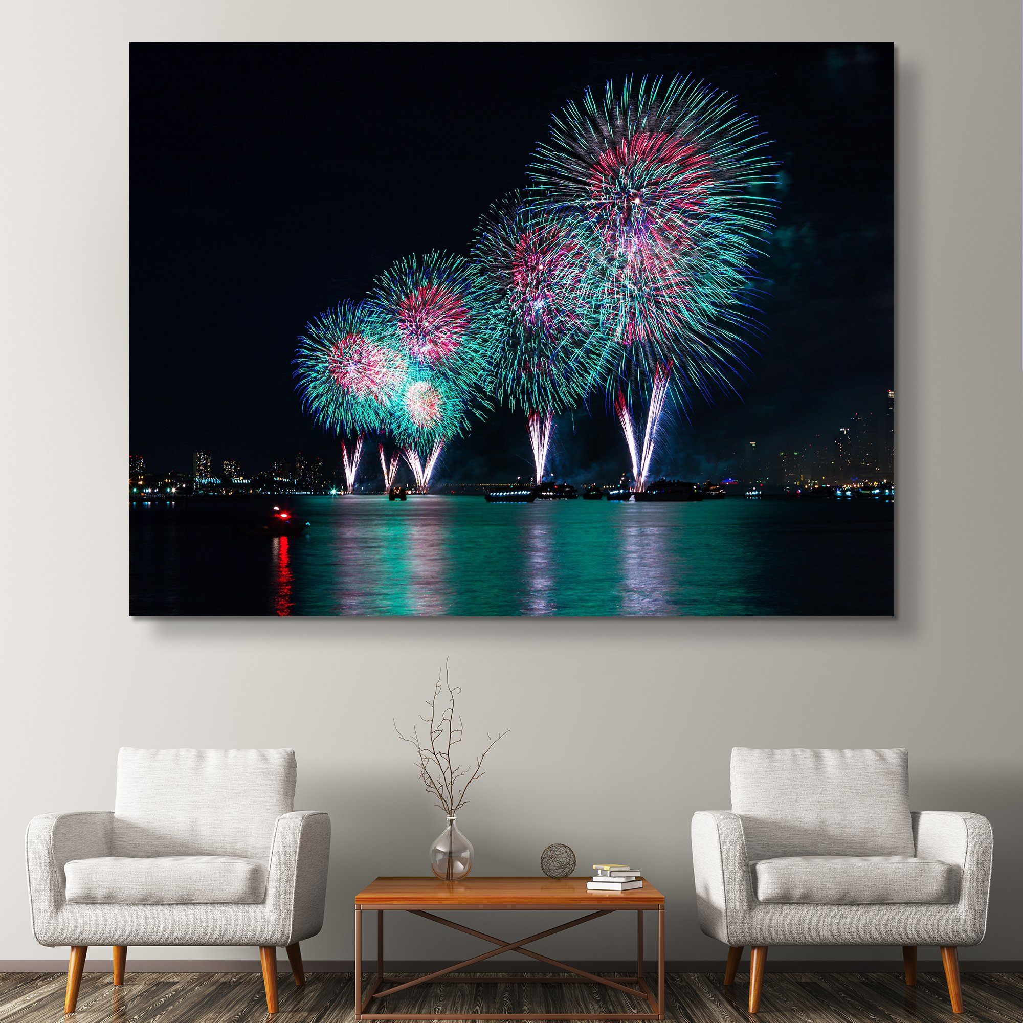 Fireworks in New York wall art