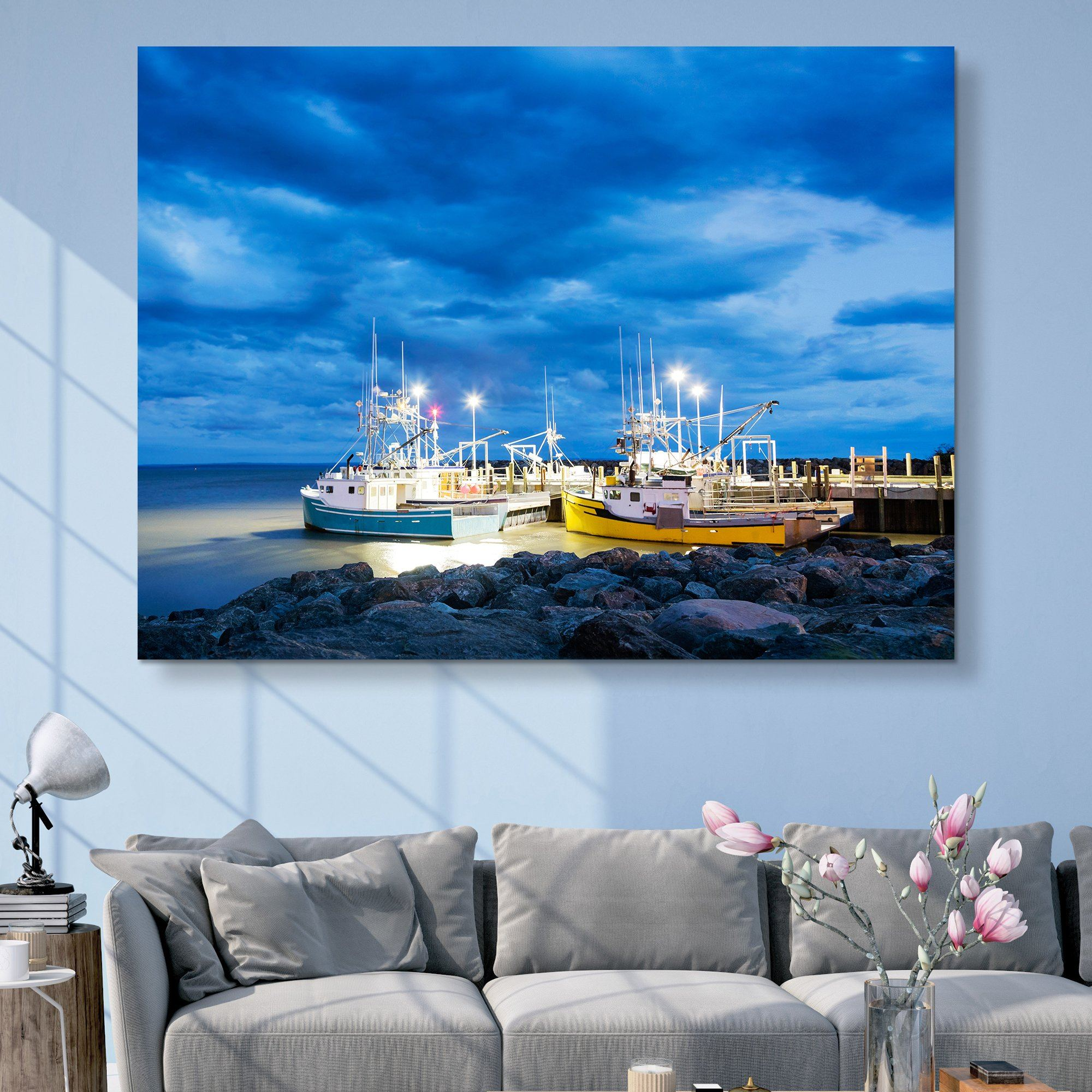 Fishing Boats in Alma wall art