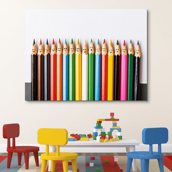 Happy Pencils wall art
