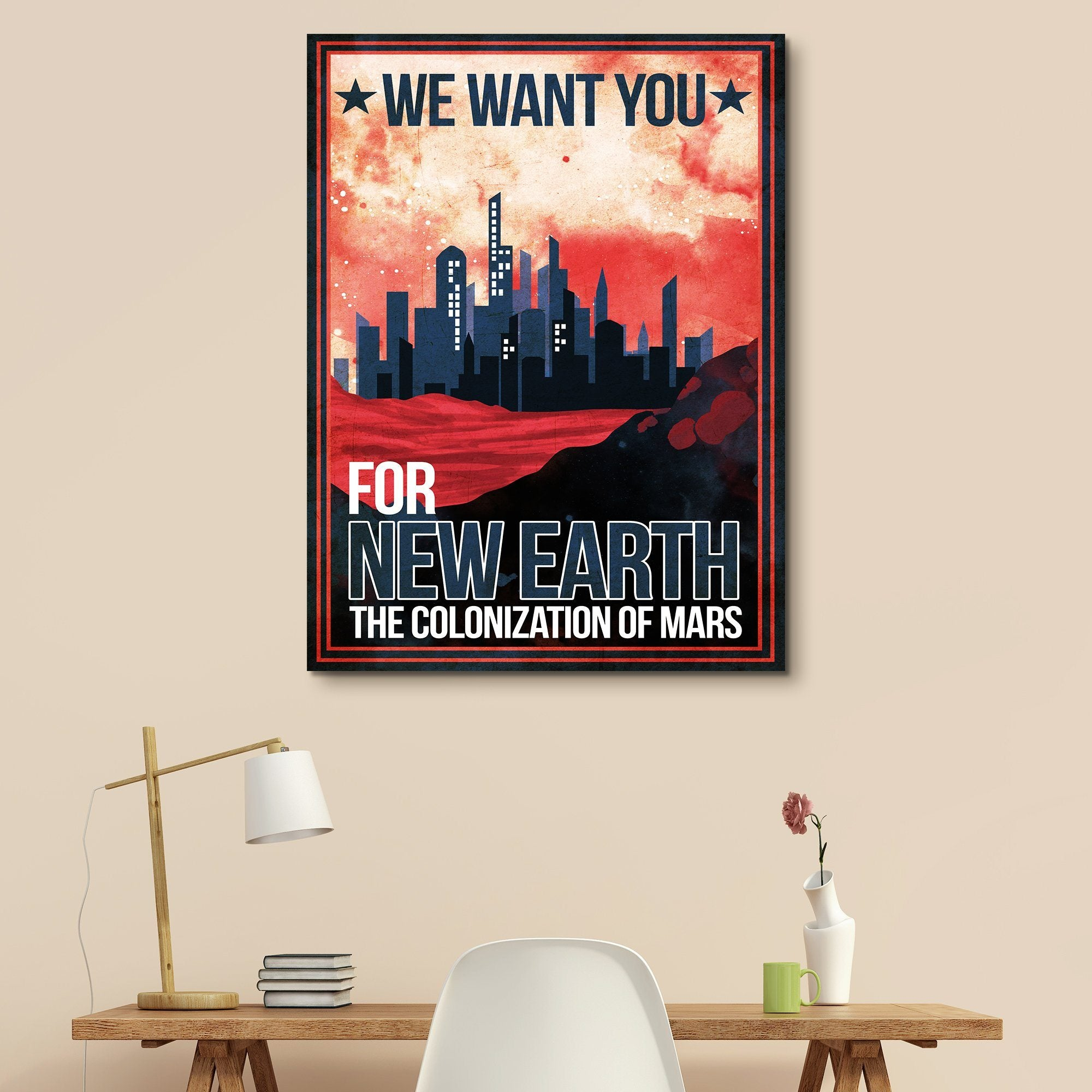 Mars - Futuristic Planet Series wall art