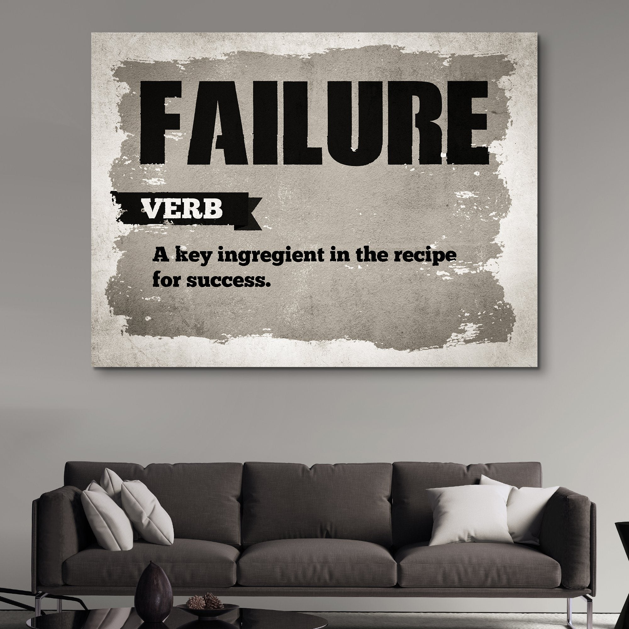 Failure wall art