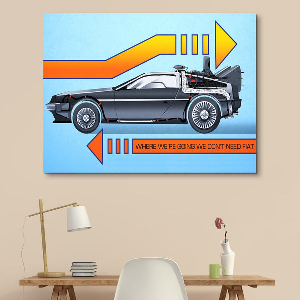Back To The Future wall art