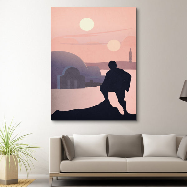 Luke Skywalker wall art