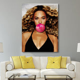 Beyonce Bubblegum wall art